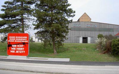 Das Denkmal bei der Serbenhalle