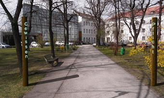 Das Denkmal im Szokoll-Park